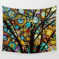 Fairy Tale Tree Wall Tapestry by Klara Acel - $39.00
