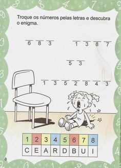 Atividades com passatempos de matemática para educação infantil ~ ESPAÇO EDUCAR