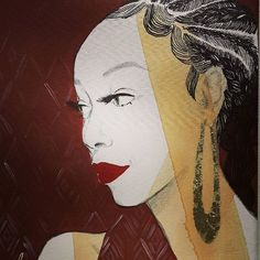 Muse  #portrait #vintage #poster #muse #profile #red #woman #young #girl #redlips #redlipstick #pattern #picture #abstract #illustration #graphicart #earrings #african #hair #braids #africanprint #beauty #beautiful #painting #art #interior #elegant #makeup #fashionillustration #DVSN
