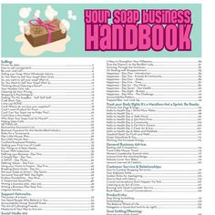 This is a compilation of the Business insights posted on the Soap Queen Blog over the last 5 years. Not only is this e-book a whopping 148 pages lo