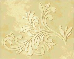 Raised Plaster Acanthus Wallpaper Stencil | VictoriaLarsen - Craft Supplies on ArtFire
