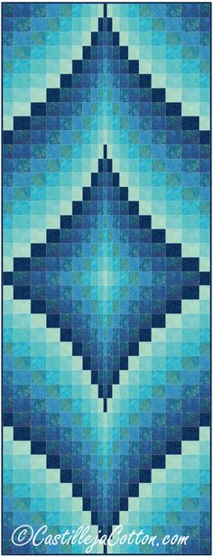 Fire Within Blue Lagoon Quilt Pattern