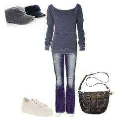 Casual Day by amyjoyful1 on Polyvore featuring Silver Jeans Co., Office, American Rag Cie and 45seven