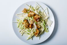 We're into the celery-on-celery concept, but you could make this with celery root alone and it would be great.