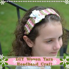 Kids Craft Woven Yarn Headband--straw method