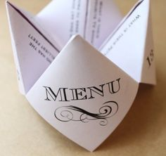 Unique Custom Wedding Cootie Catcher Designs by DarlingGirlPaper Wedding Planning Tips, Event Planning, Wedding Ideas, Wedding Stuff, Tie The Knot Wedding, Colored Paper, Tie The Knots, Origami, How To Introduce Yourself