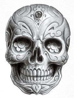 awsome skull tattoo idea