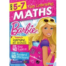 Barbie Fun Learning Maths Educational Book - 5 - 7 Years