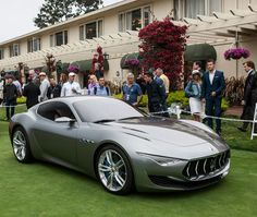 The Maserati Alfieri starred on the Concept Lawn of Pebble Beach Concours d'Elegance.