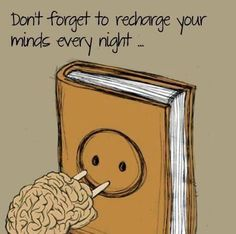 Books recharge your minds