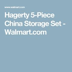 Hagerty 5 Piece Fine China Storage Set Sets And