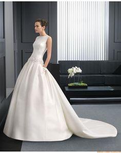 2015 A-linie Exklusive Moderne Brautkleider aus Taft mit Applikation