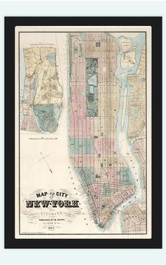 Old vintage map of Chicago 1893, United States of America ...