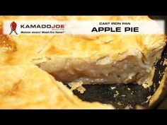 If you like apple pie, you are gonna LOVE a cast iron pan apple pie cooked on your Kamado Joe! Recipe: Granny Smith Apples, cored, halved, each half cut. Kamado Grill, Kamado Joe, I Grill, Ceramic Grill, Joe Recipe, Granny Smith, Food N, Iron Pan, Apple Recipes