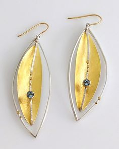 Silver Lake Earrings: Sydney Lynch: Gold & Silver Earrings | Artful Home