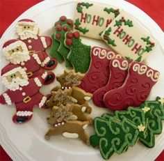 hand decorated gluten free christmas sugar cookies what could be more traditional than a christmas cookie these delicious gourmet gluten free vanilla - Pictures Of Decorated Christmas Sugar Cookies