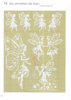 Fairy cross-stitch patterns... This can be use on filet crochet...