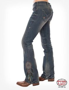 Free & Brave Wings Jeans by Cowgirl Tuff Co. Cowgirl Tuff Jeans, Western Jeans, Cowgirl Chic, Cowgirl Style, Cowgirl Clothing, Western Style, Cowgirl Boots, Gypsy Cowgirl, Cowgirl Fashion