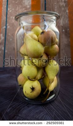 Pears in jar - stock photo