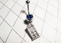 TARDIS Belly button Ring: I would pierce my belly button for this...