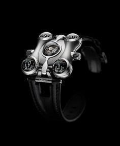MB&F (Maximilian Büsser and friends) is introducing their sixth Horological Machine 'Space Pirate', a timepiece designed to operate in the hostile Cool Watches, Watches For Men, Men's Watches, Latest Watches, Pocket Watches, Space Pirate, Mechanical Watch, Outer Space, Luxury Watches
