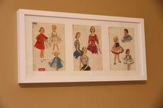 Frame vintage patterns. Adorable!