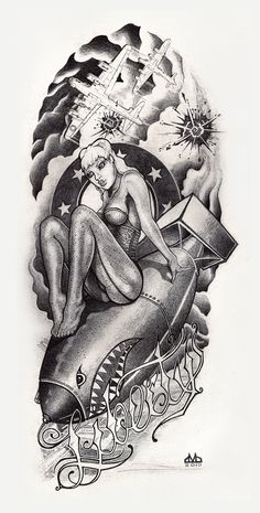 Pin Up RAF Graphic