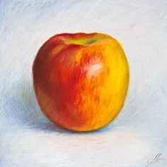 Oil Pastels. Apple.: