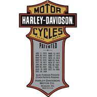 Harley Davidson Patented Motorcycles Sign