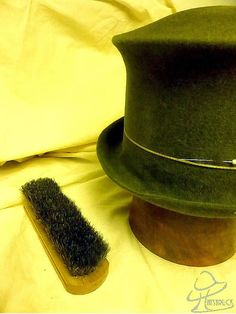 Hatstruck Couture Millinery: Creating a Top Hat Without a Top Hat Block; Another Example of Hat Blocking Without Pins and Nails