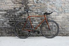 Eastside Chromoly Steel Fixed Gear Frameset | Fyxation - Love the copper color of this bike