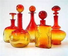Blenko Tangerine Glass