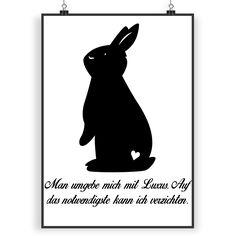 Poster DIN A4 Kaninchen Hase aus Papier 160 Gramm  weiß - Das Original von Mr. & Mrs. Panda.  Jedes wunderschöne Poster aus dem Hause Mr. & Mrs. Panda ist mit Liebe handgezeichnet und entworfen. Wir liefern es sicher und schnell im Format DIN A4 zu dir nach Hause.    Über unser Motiv Kaninchen Hase  Die Nagetiere sind bei Kindern wegen ihrer Größe, wegen dem flauschigen Fell und ihrem ruhigen Gemüt sehr beliebt. Kinder lieben es, sich um den kleinen Fellknäuel zu kümmern, sie mit frischem…