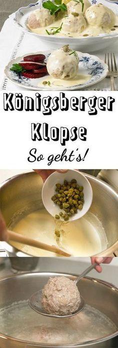 Königsberger Klopse ist Lieblingsessen vieler. Mit unserem Originalrezept kannst du die leckeren Klöße ganz einfach zu Hause selber machen.