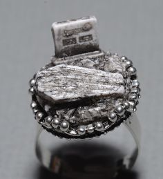 Creepy Cute Miniature Gothic Ring- Jewelry - Old Victorian Cemetery with Tombstone and Coffin. $18 - click on the photo for a direct link - http://goreydetails.net/shop/index.php?main_page=product_info=41_47_id=2126