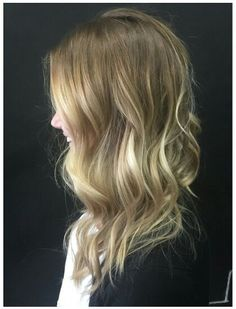 I love the blend of the blondes. Perfection! Sandy blonde ombre honey