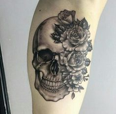 58 Perfect Skull Tattoo Designs That Will Blow Your Mind - 58 Perfect Skull Tattoo Designs That Will Blow Your Mind - 58 Perfect Skull Tattoo Designs That Will . Feminine Skull Tattoos, Floral Skull Tattoos, Animal Skull Tattoos, Small Skull Tattoo, Tribal Tattoos, Skull Tattoo Flowers, Sugar Skull Tattoos, Tattoo Floral, Tattoo Black