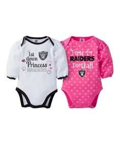 921059c6d11fe Take a look at this Oakland Raiders Pink Long-Sleeve Bodysuit Set today! 6