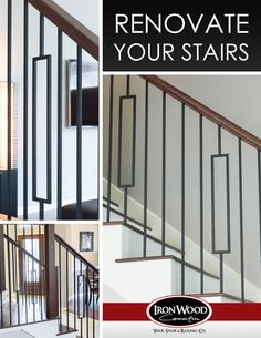 Get your staircase remodeled with our Aalto collection. Adorn any space with the clean lines and open detail of these modern balusters and panels.  Visit our site to see more: http://ironwoodusa.com/  Houston: 281-209-0000 DFW: 817-701-2006 Austin: 512-973-8373  #StairRemodel #InteriorDesign #Stairs #StairParts #Staircase  #CustomStair