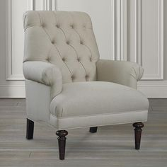 Shop for tufted chair at Dunk & Bright Furniture. Our large selection, expert advice, and excellent prices will help you find tufted chair that fit your style and budget. Tufted Accent Chair, Upholstered Chairs, Accent Chairs, Farmhouse Chairs, Family Room Furniture, Dorm Room Designs, Cheap Chairs, Up House, Accent Furniture