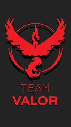 Made this Walpaper for Team Valor : pokemongo