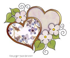 artbyjean clipart hearts   SIX DIFFERENT LOVE HEARTS - Clip art prints for your decoupage and ...