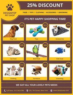Pet Shop Free PSD Flyer Template - http://freepsdflyer.com/pet-shop-free-psd-flyer-template/ Enjoy downloading the Pet Shop Free PSD Flyer Template by Designyep!  #Flyer, #Photographer, #Photography, #Photos, #Promotion