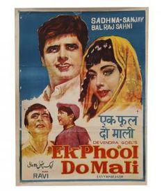 "Vintage Bollywood Movie Poster ""Ek Phool Do Mali"" 1969 Old Movie Posters, Cinema Posters, Film Posters, Vintage Posters, Vintage Films, Retro Posters, Bollywood Posters, Vintage Bollywood, Indian Movies"