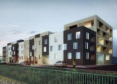 Athis-Mons - LAMBERT LENACK Modern Condo, Condo Design, Interior Architecture, Multi Story Building, Design Ideas, Interiors, Luxury, Urban Planning, Decoration Home