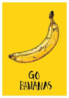 Go Bananas by Bristol based illustrator Tom Hovey. #westisbest