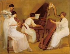 Viennese Orchestra or Women's Concert, c.1914 (oil on canvas) - Pinterest