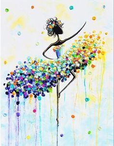 The Joyful Dancer Painting by Christine Krainock Dance Paintings, Abstract Paintings, Painting Prints, Canvas Prints, Art Prints, Abstract Art, Abstract Landscape, Body Painting, Art Blue