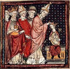Merovingers Lodewijk wordt door zijn vader gekroond als medekeizer