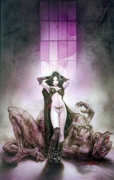 luis royo vamp without irella «Mix «Fantasy «Anime wallpapers 3d Fantasy, Fantasy Kunst, Fantasy Girl, Fantasy Artwork, Dark Fantasy, Luis Royo, Spanish Artists, Fantasy Illustration, Fantastic Art